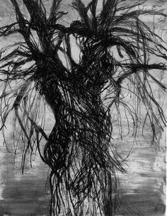 TREES IN ART • L'ARBRE DANS L'ART | Jim Dine (Am. born 1935), A tree painted in South...