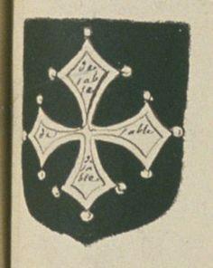 Marie PERIOT / PIRIOT, veuve DE LESPINAY-RICHETEAU, conseiller du Roy au présidial de Poitiers. Porte : de sable, à une croix vuidée, clechée et pommetée d'argent | N° 232