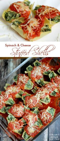 Cheesy Spinach Shells and Cheese Recipe! Mmmm! Easy Dinner Recipe or Appetizer Recipe for a party!