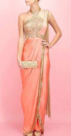 20 Gorgeous Pics of Saree Gown Designs Saree Gown, Sari Dress, Anarkali Dress, Indian Dresses, Indian Outfits, Indian Clothes, Bridesmaid Saree, Bridesmaids, Indian Attire