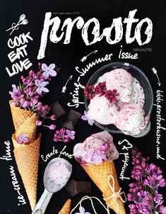 The covers color scheme works with what season that it says that it is on the cover. The purple fits nicely with spring colors. Although there are more colors that could be used with depicting spring the purple is effective because it is different shades of purple. It is also a unique idea how the flowers are used in the ice cream cone too instead of just ice cream. The font choice gives a playful type font which is what spring is all about