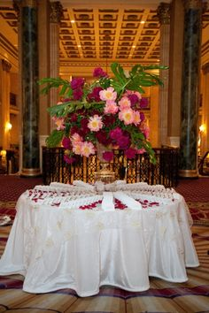 Welcome table in our historic Palm Room. #RooseveltEvents #NYweddings