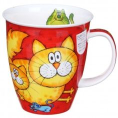 Nevis Cats and Kittens Red mug