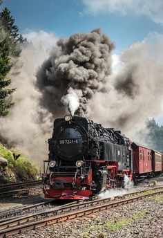 Steam engine, HSB (narrow gauge, 1000 mm, Harz - former GDR), post-WWII-built by…