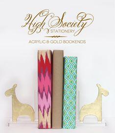 #tutorial - High Society Stationery: DIY Gold Giraffe Bookends | Damask Love Blog