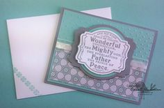 Stampin' Up! Prince of Peace Single Stamp with Winter Frost DSP | Carol Hickman, Chickstamper