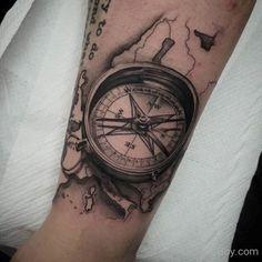 Compass Tattoo Design-TB118