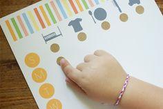 printable modern toddler chore chart