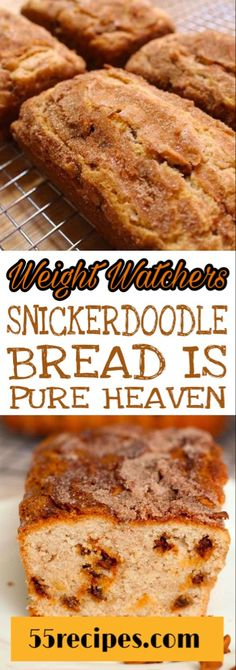 PIN IT... TO REMEMBER IT! #weightwatchers #snickerdoodles #bread #weight_watchers Dessert Weight Watchers, Plats Weight Watchers, Weight Watchers Diet, Weight Watcher Breakfast, Weight Watchers Muffins, Weight Watcher Dinners, Ww Desserts, Healthy Desserts, Ww Recipes