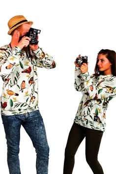 Bird Park Sweater. Birds all over you - can you imagine wearing this on a festival? Made on high quality cotton using a special printing technique to provide an eye-popping photographic image all throughout the shirt. Feel free, be cool. The sky is the limit. #breakingrocks #birds #freeandwild #festivaloutfit #summer #outfitinspiration #ootd #alloverprint #streetstyle #lookbook #animalclothes #unisexwear #unisex #sweaterinspiration #sweaterlife #jumper #longsleeve
