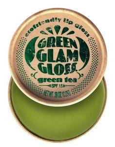 Gloss biologique, dans un emballage en carton recyclé, sans plastique : green glam ! - green glam gloss: eco-friendly packaging and organic gloss $9