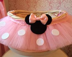Grande caliente rosa Minnie Mouse tema tutú por MissMadelynsBows