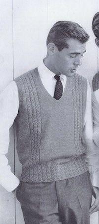 Vintage-Knitting-Pattern-Men's-Sweater-Vest | Men style | Pinterest
