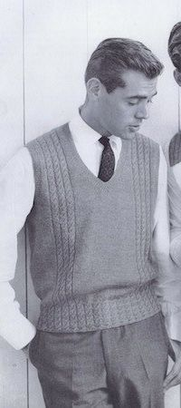 Vintage men's sweater pattern. I LOVE this!