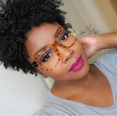 Nice lip colour & natural curls