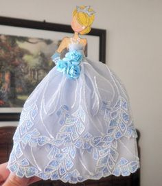 Handmade Scrapbook Disney Cinderella Princess Paper Doll Paper Piecing by Becky #DollswithClothingAccessories