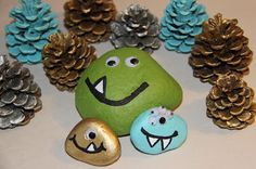 Kid Craft:  Rock monsters in a forest!