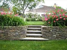 Image result for backyard ideas retaining walls