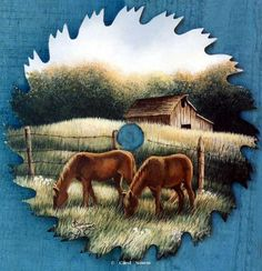 """Painting Scenes for Saw Blades 