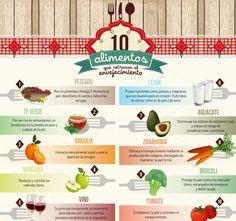 Alimentos que te ayudarán a retardar el envejecimiento