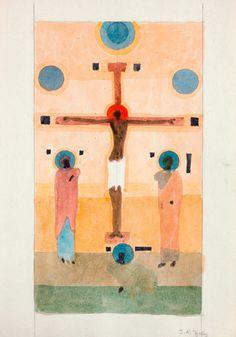 Nowosielski, 005 Bez tytułu (Tychy), ok. 1982-1984