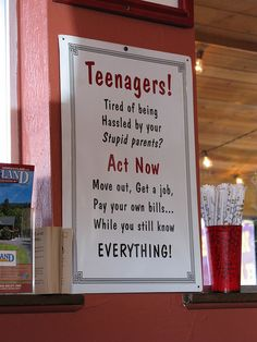 Note to Teenagers