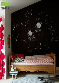 Wall Decals are a simple and excellent way to add color and excitement to a Playroom, Nursery, Bedroom, or any other room that needs a boost. [WHATS INCLUDED] set of two vinyl wall astronauts decals 12 Constellations ( each constellation are separate from others) 1 install