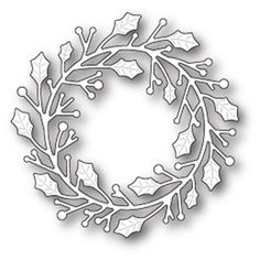 Memory Box HOME FOR THE HOLIDAYS WREATH POPPY STAMPS Craft Die 1646