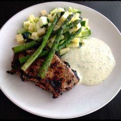 Lemon/Garlic/Herb Pork Chops Recipe Main Dishes with pork chops, extra-virgin olive oil, lemon zest, garlic, dried thyme, dried basil, cracked black pepper, sea salt flakes