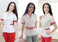 Resultado de imagen para медицинские халаты модный доктор School Uniform, Scrubs, Medical, Jackets, Dresses, Women, Hello Kitty, Google, Ideas