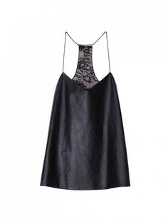 why is everything i love so expensive? Tibi leather camisole, $365, lined in Chantilly lace.... all I know is, she had a pretty face...