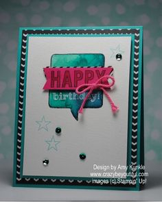 Masking with Rubber Cement by amykunkle - Cards and Paper Crafts at Splitcoaststampers Rubber Cement, Thought Bubbles, Masking, Creative Studio, Birthday Celebration, Cas, Stampin Up, Celebrations, Card Ideas