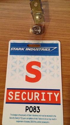 4ff51315ca9 Stark Industries Security Badge by GeekyPrinting on Etsy https   www.etsy.