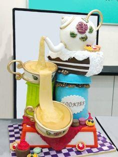 Whimsical Tea Pot Cake