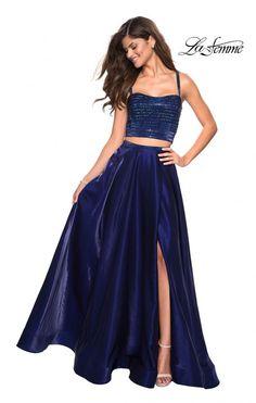 6957b83b5e51 La Femme Prom Style 27607 Prom Dresses Blue, Formal Evening Dresses, Formal  Prom,