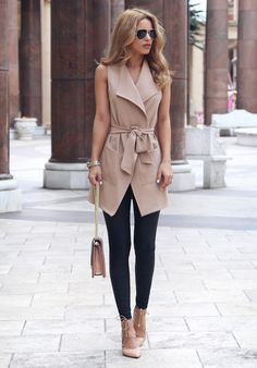 cool Идеи сочетаний женского пиджака без рукавов (50 фото) — Образы для модных и стильных