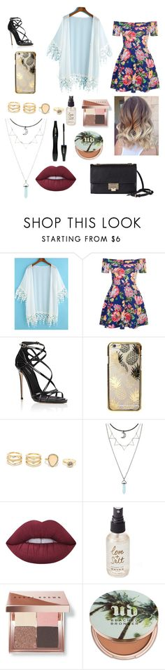 """""""Day Out With Friends"""" by annniiiii ❤ liked on Polyvore featuring New Look, Dolce&Gabbana, Skinnydip, LULUS, Lime Crime, Lancôme, Olivine, Bobbi Brown Cosmetics, Urban Decay and Jimmy Choo"""