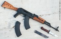 Romanian WASR Cal: mine was all black with the… Tactical Rifles, Firearms, Kalashnikov Rifle, Rifle Accessories, Cool Guns, Awesome Guns, Guns Dont Kill People, Assault Rifle, Weapons