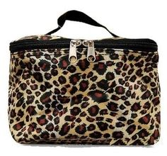 Leopard Theme Cosmetic Makeup Case by Private Label. $7.95. Material: Microfiber. Top Handle. Soft Sided. Lining: Padded Microfiber. Main Enclosure: Zipper. Get organized with this multipurpose makeup bag to store brushes, eye shadows, lipsticks, and your other supplies for your beauty regimen. Use it for toiletries for traveling or keep your skincare essentials easy to grab and go to the gym. Compact enough to slip into a tote bag or school bag, but spacious enough to hold...