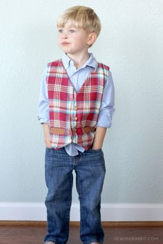 Free Boys Vest Pattern, how to sew a boys vest for the holidays                                                                                                                                                     More