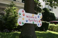 Paw Patrol Birthday Welcome Sign
