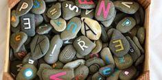 Kamienková abeceda podľa montessori