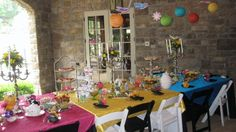 More pics of a Mad Hatter tea party for a bridal shower or bridal tea.