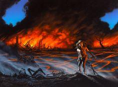 Michael Whelan Stephen King Firestarter illustration
