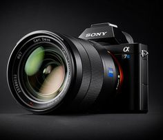 """Sony A7S   Sony Camera All new """"Sony A7S"""" is a compact interchangeable lens camera aimed at videographers. Sony A7S offers a full frame sensor and the ability to shoot 4K videos. Sony A7S also has max ISO of 409,600 meaning it will practically shoot 4K Video footage in complete darkness."""