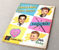 1955 I Love Lucy Coloring Book Hollywood Memorabilia. via  BoneStructure, etsy☺