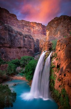 ~~Havasu Falls ~ turquoise waters of the Colorado River, Grand Canyon, Arizona by Inge Johnsson~~