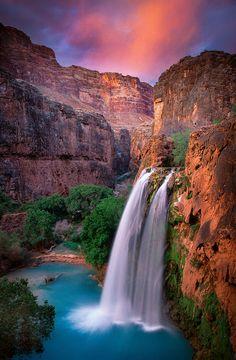 倫☜♥☞倫 Havasu Falls, Arizona, USA ...♡♥♡♥♡♥Love it