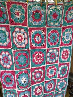 Granny deken prachtige kleuren