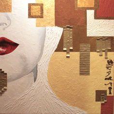 """""""Nefertari"""" evoluzione della serie Dama Bianca Cm80x80"""